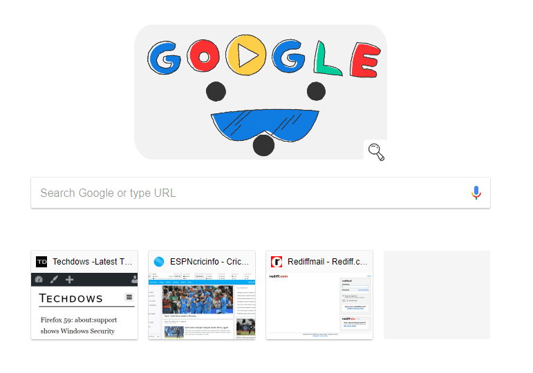Chrome 64: New Tab Page shows 4 Thumbnails instead of 8