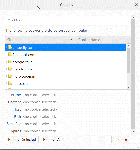 how to delete old firefox data in win7