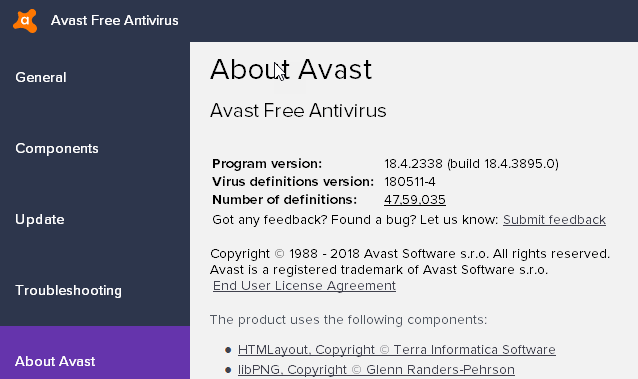 Avast Fixes Ui Failed To Load Issue On Windows 10 1803