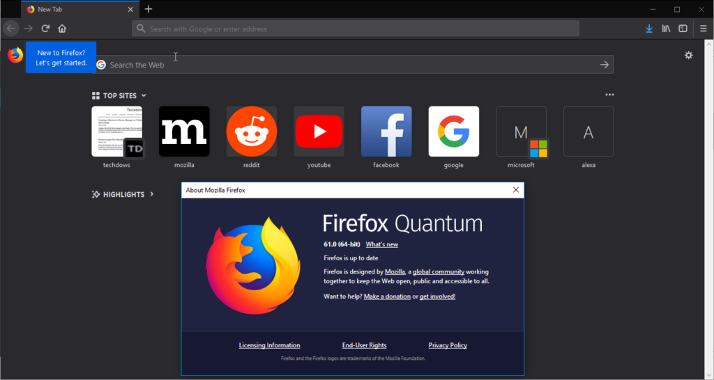 Firefox 61 released, here is what's new