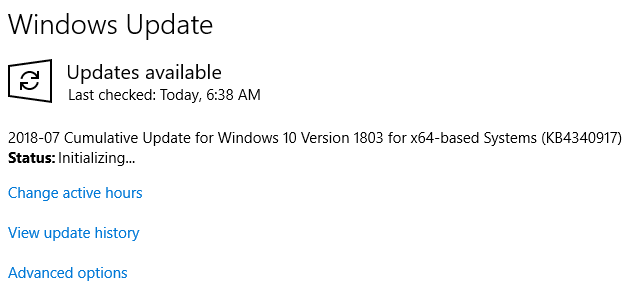 windows 1803 update offline installer