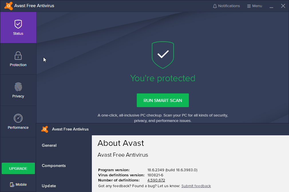 avast 2018 add exception