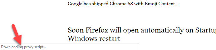 Chrome 'downloading proxy script'?! [solved].