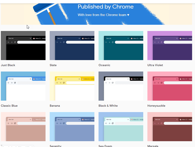 Google releases 14 new themes for Chrome to the Web Store