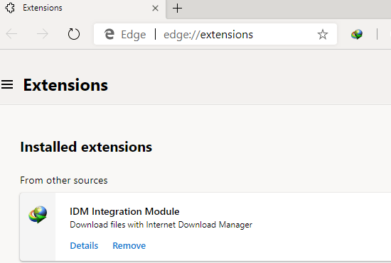 How to install IDM Extension in Chromium-based Microsoft