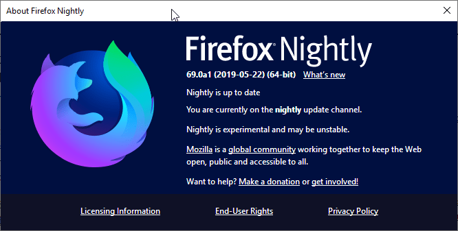 Firefox 69 To Disable UserChrome.css And UserContent.css