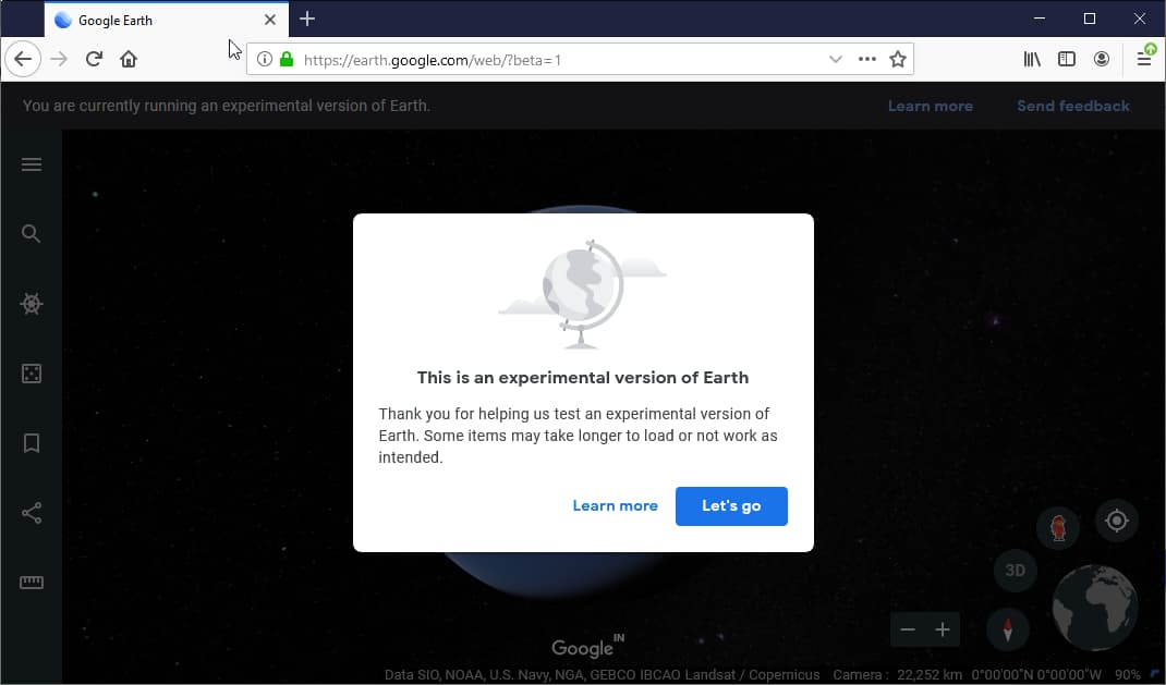 Google brings Google Earth to Firefox and other Chromium