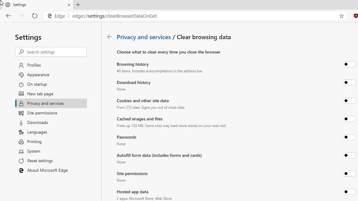 Microsoft Chromium Edge: Global Media Controls, Clear