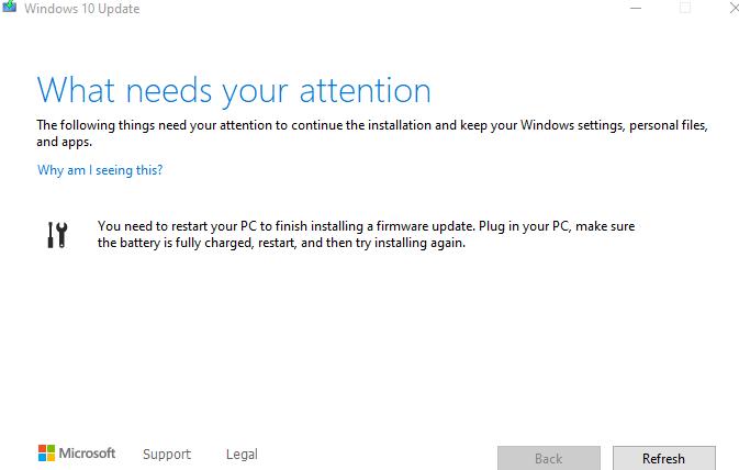 Windows 10 2004 installation asks to restart PC for ...