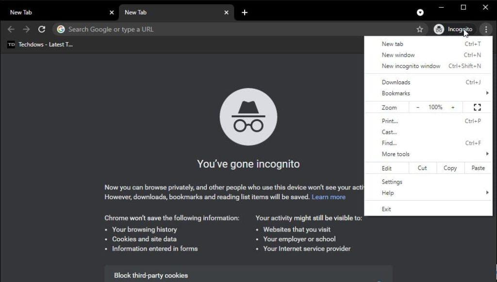 Chrome-incognito-mode-with-white-menu-10